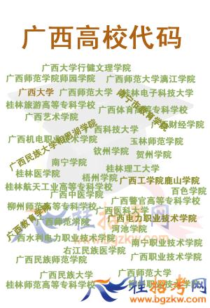 广西各大院校代码